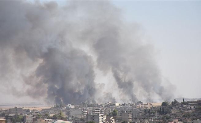 Suriye'nin Kamışlı kentinde yangın