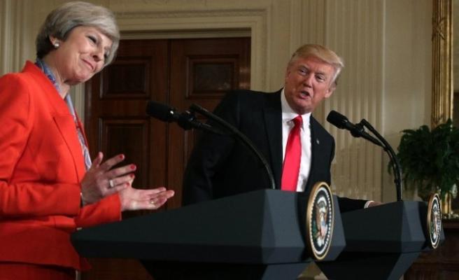 Trump ile May'den görüşme sonrası ortak basın toplantısı