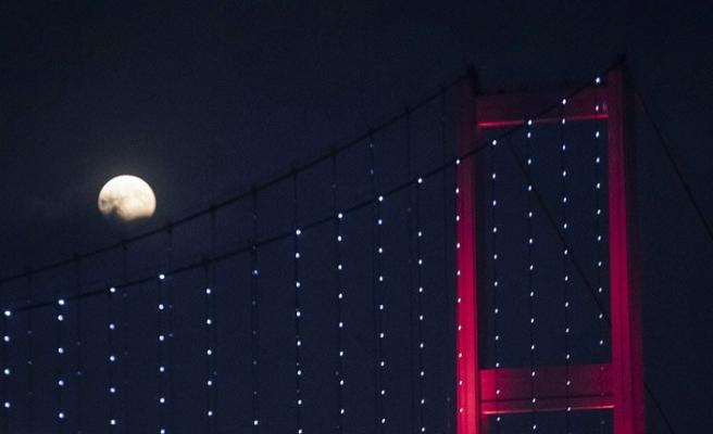 Ay tutulması Türkiye saati ile 21:43'de başlayacak