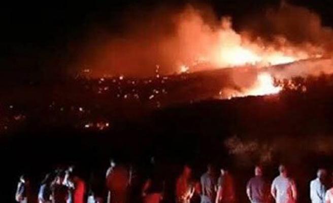 KKTC'de düşen bir cisim sonrası patlama ve yangın