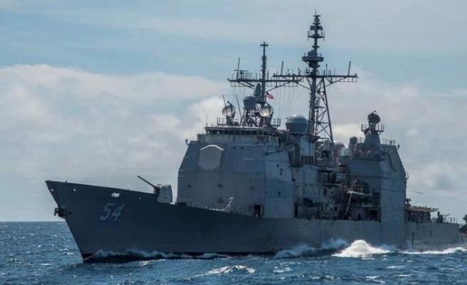 ABD savaş gemisi Tayvan Boğazı'ndan geçiş yaptı