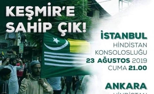 Anadolu Gençlik Derneği'nden Keşmir için iki şehirde gösteri