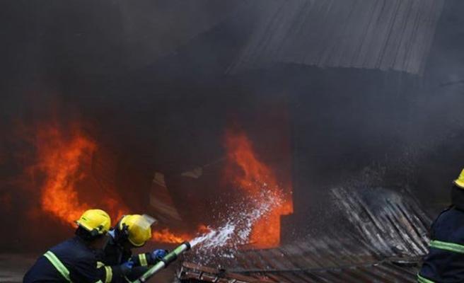 Erbil'deki yangında Türk firmalarına ait depolar zarar gördü