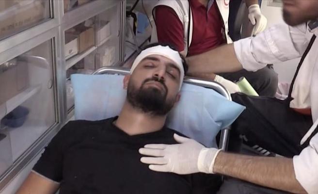 Filistin Gazeteciler Sendikası'ndan İsrail'in AA foto muhabirini yaralamasına tepki