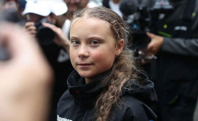 İklim aktivisti Thunberg'den BM önünde eylem