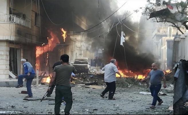 Kamışlı'da bomba yüklü araç infilak ettirildi