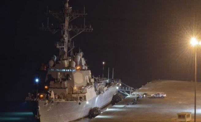 ABD savaş gemisi Beyrut Limanı'na demirledi, bazı bakanlar gemide..