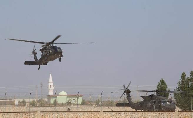 Fırat'ın doğusunda ABD ile ortak helikopter uçuşu