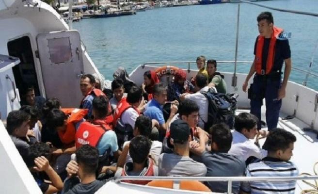 İzmir'de 143 kaçak göçmen yakalandı