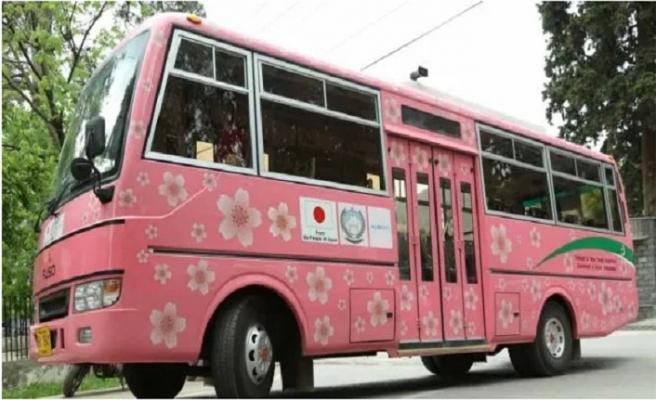Pencap'ta pembe otobüs uygulaması başladı