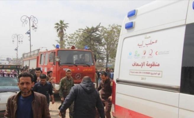 Türkiye sınırındaki Azez ilçesine peş peşe saldırı