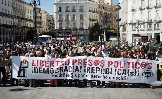 Katalonya'da bağımsızlık yanlısı gösteriler