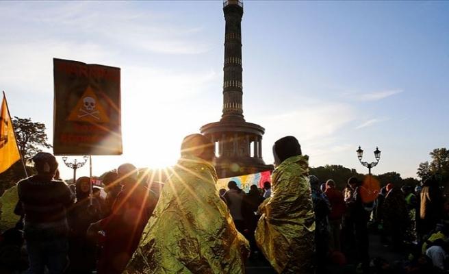 Avusturya'da iklim değişikliği protestosu