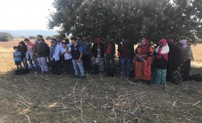 Çanakkale'de 39 göçmen yakalandı