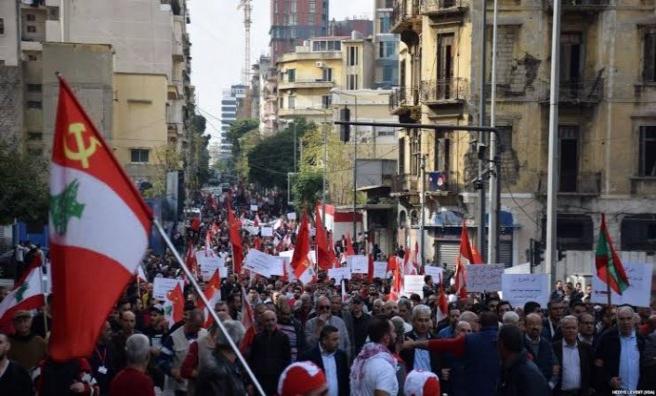 Lübnan Cumhurbaşkanı Avn'ın konuşması halkı sokağa döktü