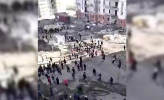 Semerkand'da Özbek ile Türk işçiler arasında büyük bir kavga yaşandı | VİDEO