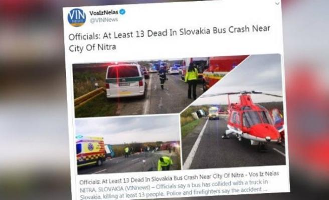 Slovakya'da yolcu otobüsü kamyonla çarpıştı: 13 ölü, 20 yaralı