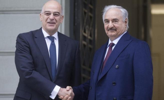 Darbeci Hafter, Yunanistan Dışişleri Bakanı Dendias ile görüştü