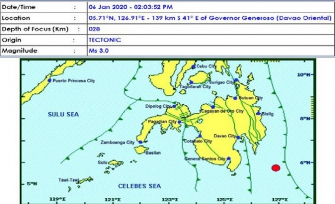 Filipinler'de 5,4 büyüklüğünde deprem
