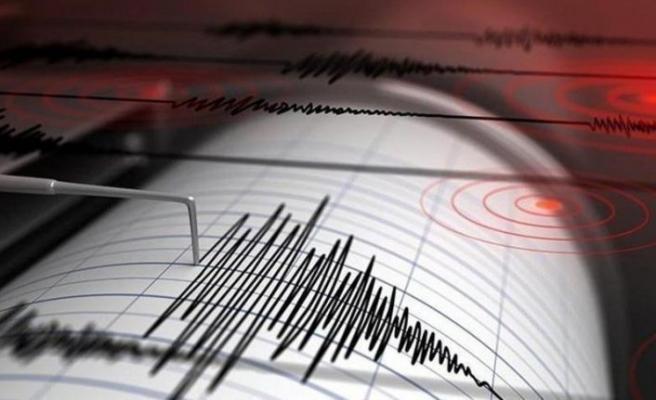 Marmaris açıklarında saat 7.34'te 4,4 büyüklüğünde deprem