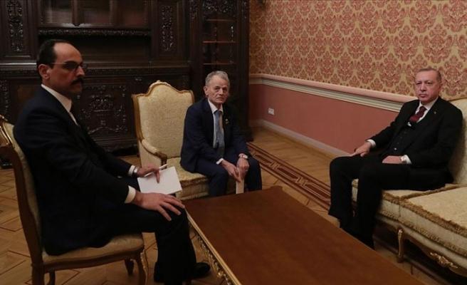 Cumhurbaşkanı Erdoğan, Kırım Tatar halkının lideri Kırımoğlu'nu kabul etti