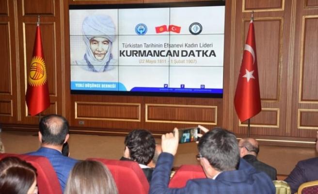 Türkistan tarihinin efsane kadın lideri Kurmancan Datka anıldı