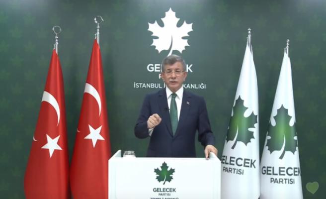 Gelecek Partisi Genel Başkanı Davutoğlu'ndan sokağa çıkma kısıtlaması açıklaması