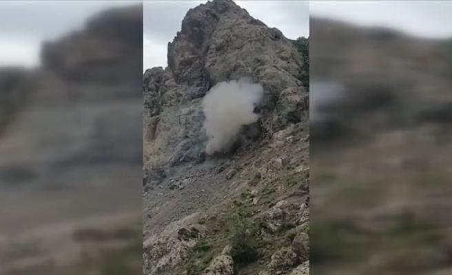 Irak'ın kuzeyinde teröristlerin barındığı 3 odalı mağara kullanılamaz hale getirildi