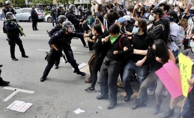 Washington'da yüzlerce kişi gözaltına alındı