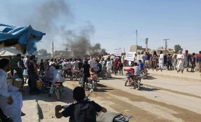 YPG/PKK Deyrizor'da protesto edildi