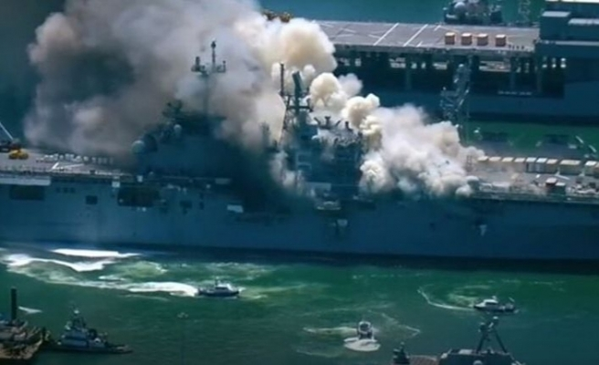 ABD savaş gemisinde yangın: En az 21 kişi yaralandı