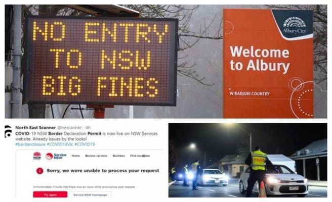 Avustralya'da NSW-Victoria sınırı kapatıldı