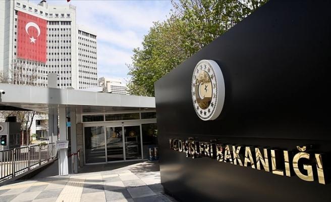 Dışişleri Bakanlığı: BMBG'nin varlığına dair Kıbrıs Türk tarafının rızasının alınmaması BM kural ve ilkelerine aykırı