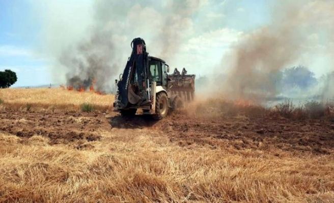 Elazığ'da bin dönüm ekili alan yandı