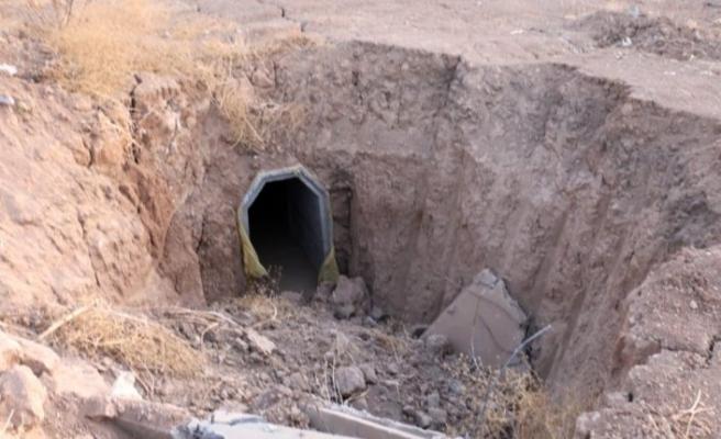 PKK'nın kamera ile izlenen 5 giriş-çıkışlı tüneli imha edildi