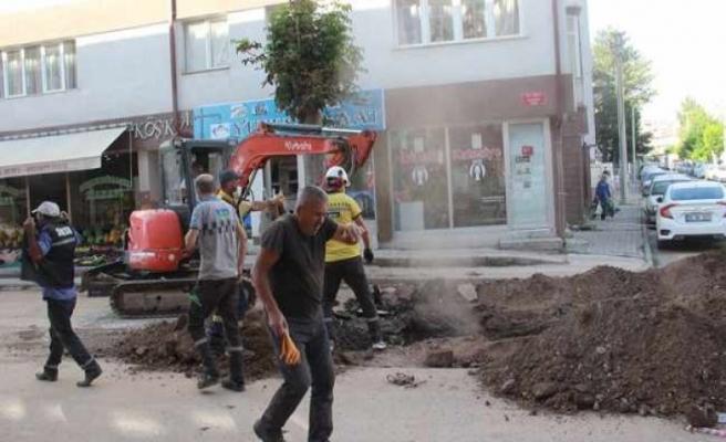 Sivas'ta doğal gaz borusu patladı