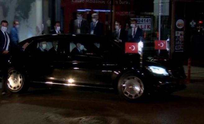 Erdoğan'dan gece yarısı Kocaeli'de özel hastaneye ziyaret