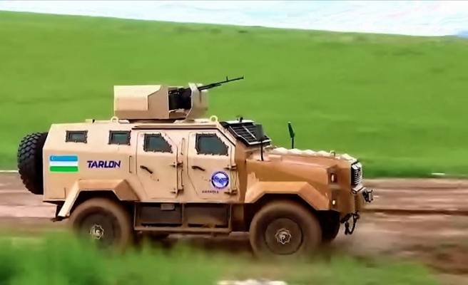 Özbekistan'da Türk zırhlısı 'Ejder Yalçın'a benzer prototip araç ortaya çıktı