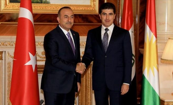 Dışişleri Bakanı Çavuşoğlu, IKBY Başkanı Barzani ile bir araya geldi