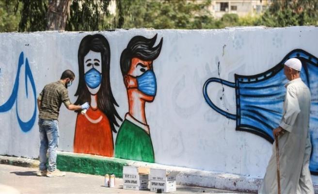 Gazze'de halk, duvar resimleriyle Kovid-19'a karşı bilinçlendiriliyor