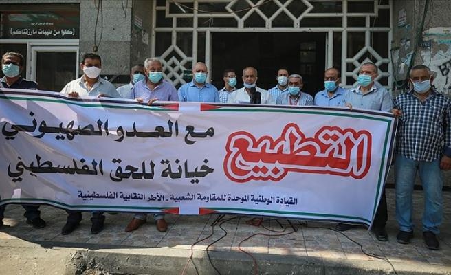İsrail'le imzalanan normalleşme anlaşmaları Gazze'de protesto edildi