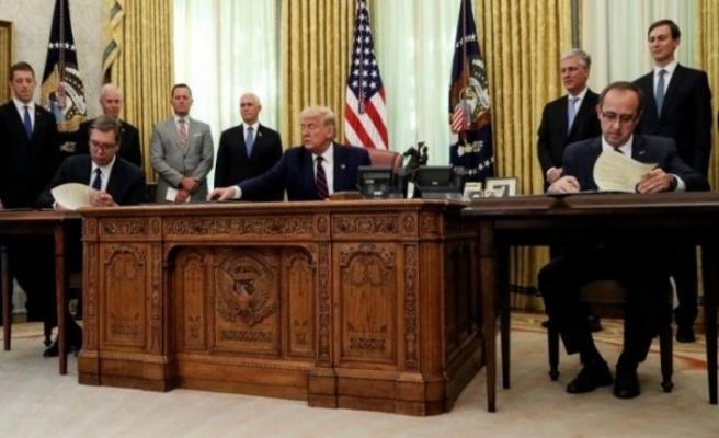 Trump: Kosova ve Sırbistan dünyayı daha güvenli bir hale getirdi