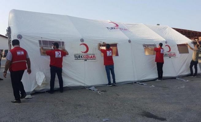 Türk Kızılayı'ndan KKTC'ye şişme çadır