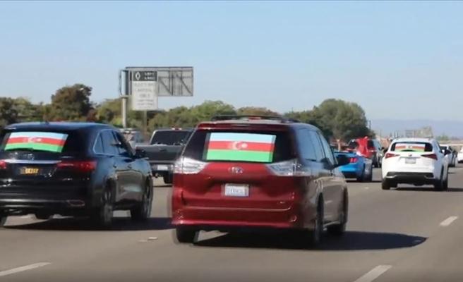 ABD'de 250 araçlık konvoyla Ermenistan protestosu