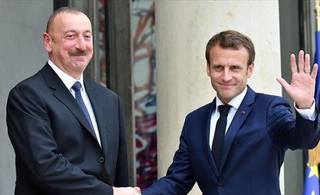 Aliyev, Macron'la Dağlık Karabağ'daki mevcut durumu görüştü