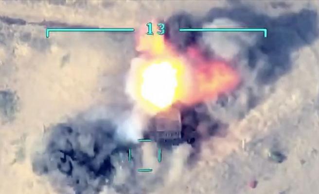 Azerbaycan Hava Kuvvetleri, Ermenistan tank ve sığınaklarını yok etti