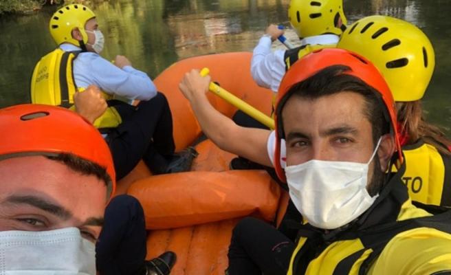 Beytüşşebap'taki rafting yarışması sona erdi