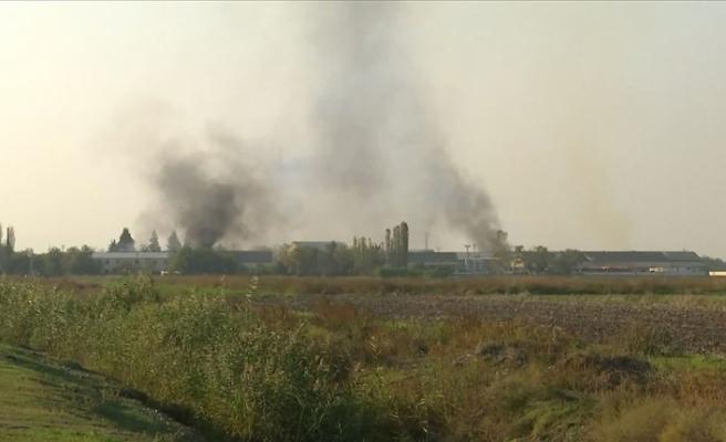 Ermenistan, Terter'de bir pamuk fabrikasını vurdu