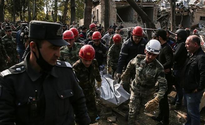 Ermenistan'ın Gence'ye düzenlediği saldırıda can kaybı yükseldi