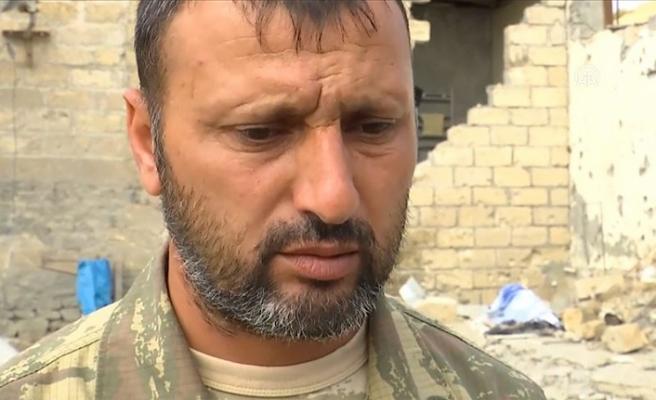 Ermenistan'ın saldırısında ailesini kaybeden asker Kurbanov cepheye gideceği günü bekliyor